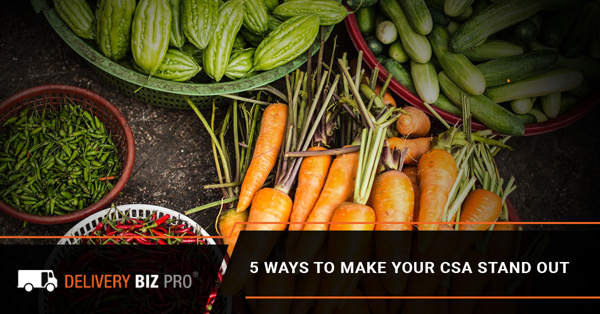 5 Ways To Make Your CSA Stand Out